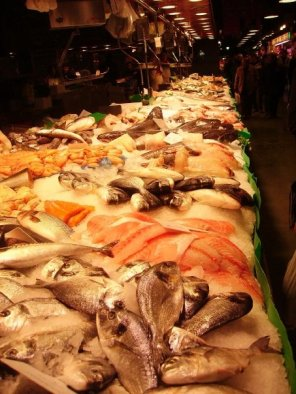 Fish Market In Barcelona